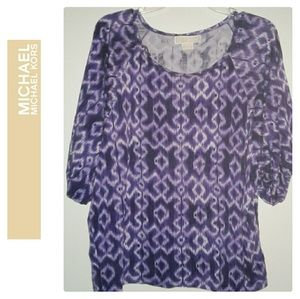 Michael Kors Purple Tribal Top